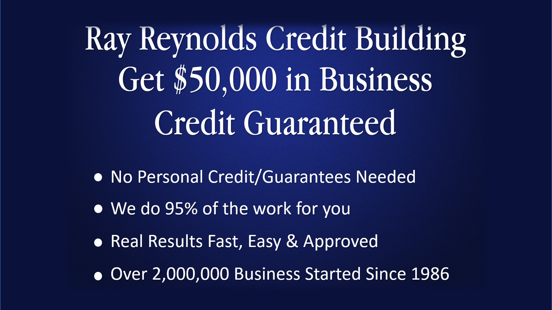 luxury image of business credit cards without personal guarantee